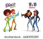 set of cartoon illustrations of ... | Shutterstock . vector #668350285