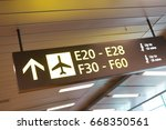 digital screen with flight... | Shutterstock . vector #668350561