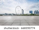empty sidewalk with modern... | Shutterstock . vector #668350774