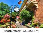 the gardens in the german... | Shutterstock . vector #668351674