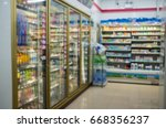 blur  shelf convenience store | Shutterstock . vector #668356237