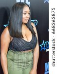 Small photo of Ayana Fite arrives on the Red carpet at Bossip Best Dressed List awards on WeTv in Atlanta Georgia on June 27th 2017 at the W Midtown's Lounge, Elevate