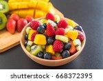 mixed fresh fruits  strawberry  ...   Shutterstock . vector #668372395