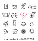 basic icon exercise set. modern ... | Shutterstock .eps vector #668377651