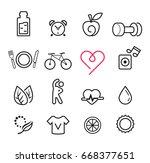 basic icon exercise set. modern ... | Shutterstock .eps vector #668377651