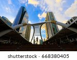 movement of businessman in... | Shutterstock . vector #668380405