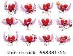 vector set of twelve cartoon...   Shutterstock .eps vector #668381755