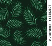 tropical background with palm... | Shutterstock .eps vector #668383879