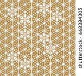 japanese pattern vector.... | Shutterstock .eps vector #668384305