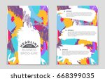 abstract vector layout... | Shutterstock .eps vector #668399035