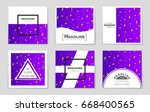 abstract vector layout... | Shutterstock .eps vector #668400565