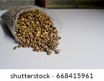 dried coffee | Shutterstock . vector #668415961