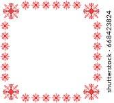 ethnic motifs text frame... | Shutterstock .eps vector #668423824
