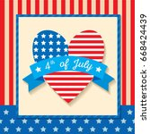 happy independence day united...   Shutterstock .eps vector #668424439