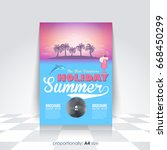 a4 style summer season vector... | Shutterstock .eps vector #668450299