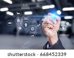 business and technology concept.... | Shutterstock . vector #668452339