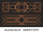laser cutting set. wall panels. ... | Shutterstock .eps vector #668457694