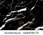 vector black marble texture ... | Shutterstock .eps vector #668458174