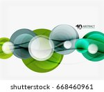 circle vector background ... | Shutterstock .eps vector #668460961