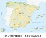 map of wet and dry areas in... | Shutterstock .eps vector #668463085