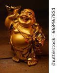 laughing buddha | Shutterstock . vector #668467831