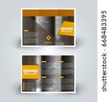 brochure template. business... | Shutterstock .eps vector #668483395