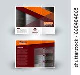 brochure template. business... | Shutterstock .eps vector #668484865