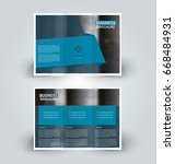 brochure template. business... | Shutterstock .eps vector #668484931