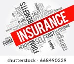 insurance word cloud collage ... | Shutterstock . vector #668490229
