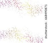 molecular concept of neurons... | Shutterstock .eps vector #668490871