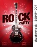 vector rock festival flyer... | Shutterstock .eps vector #668494009