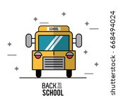 color poster of back to school... | Shutterstock .eps vector #668494024