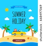 summer template illustration | Shutterstock .eps vector #668497069