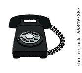 telephone communication dial... | Shutterstock .eps vector #668497387