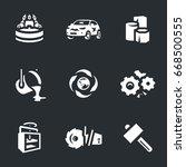 vector set of scrap processing... | Shutterstock .eps vector #668500555