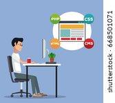 color scene background side... | Shutterstock .eps vector #668501071