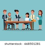 color background workplace... | Shutterstock .eps vector #668501281