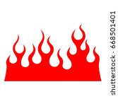 flame vector fire. colored...   Shutterstock .eps vector #668501401