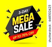mega sale banner design... | Shutterstock .eps vector #668502625