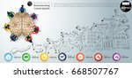 vector brain    businessman and ... | Shutterstock .eps vector #668507767