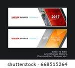 abstract vector set of modern... | Shutterstock .eps vector #668515264