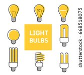 set of light bulbs | Shutterstock .eps vector #668518075