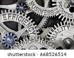 macro photo of tooth wheel... | Shutterstock . vector #668526514