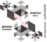 geometric abstract poster ... | Shutterstock .eps vector #668528689