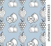 slice lemon with apple and... | Shutterstock .eps vector #668530615