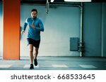 young athlete man is exercising ...   Shutterstock . vector #668533645