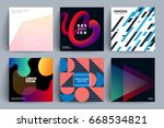 set of backgrounds with... | Shutterstock .eps vector #668534821