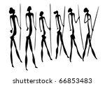 vector primitive figures looks... | Shutterstock .eps vector #66853483