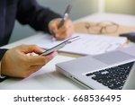 businessmen are working. | Shutterstock . vector #668536495