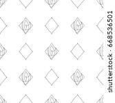 vector black and white seamless ... | Shutterstock .eps vector #668536501